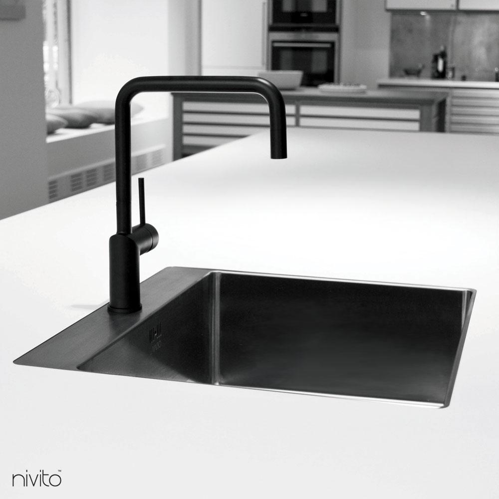 Svart Vattenblandare - Nivito 1-RH-320