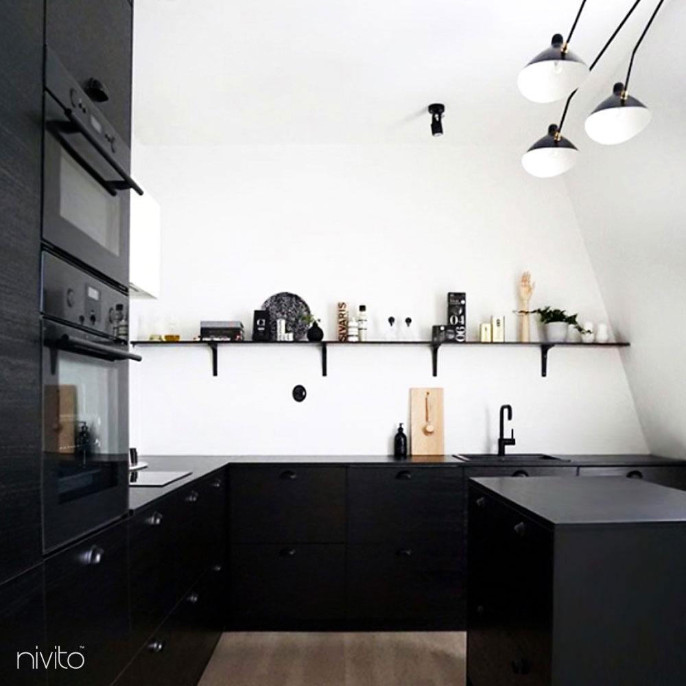 Svart Blandare Kök - Nivito 13-RH-320