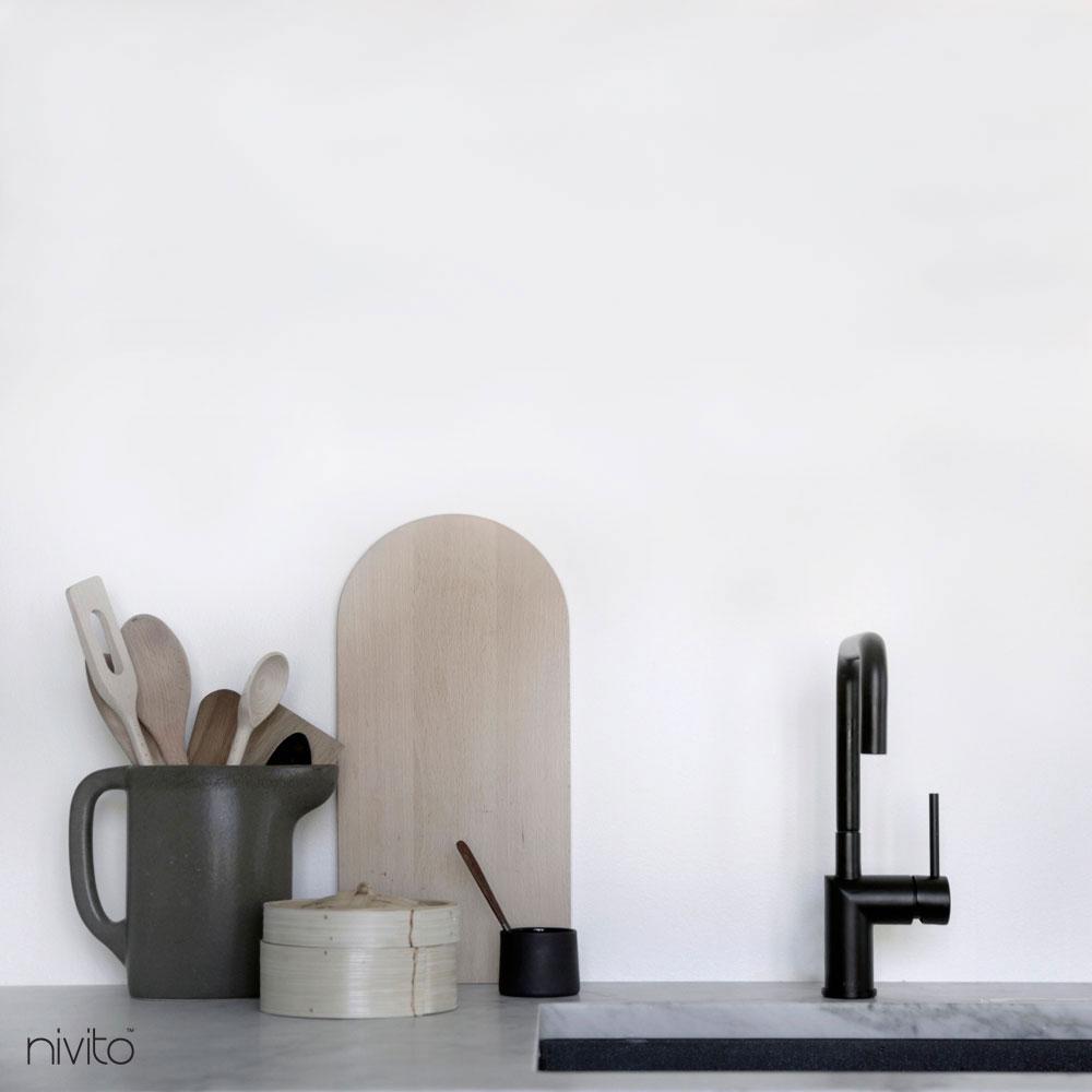 Svart Blandare Kök - Nivito 18-RH-320