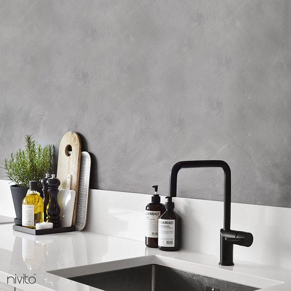 Svart Blandare Kök - Nivito 2-RH-320