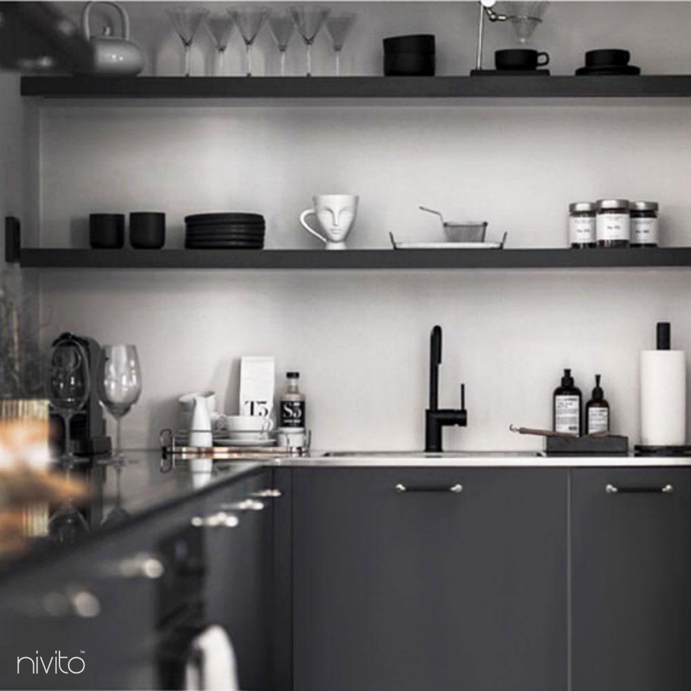 Svart Vattenblandare - Nivito 21-RH-320