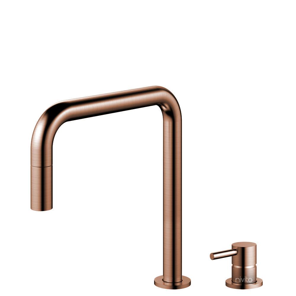 Koppar Vattenblandare Utdragbart munstycke / Sepererad Kropp/Pip - Nivito RH-350-VI