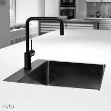 Svart Köksblandare - Nivito 1-RH-320