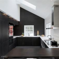 Kök vatten kran svart