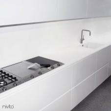 Borstad stål vatten kran