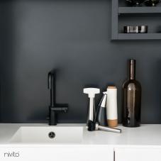 Svart Köksblandare - Nivito 7-RH-320