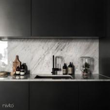 Svart Köksblandare - Nivito 8-RH-320