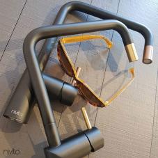Mässing/Guld Köksblandare Svart/Guld/Mässing - Nivito 1-RH-340-BISTRO