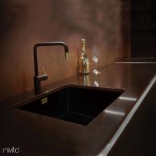 Mässing/Guld Köksblandare Svart/Guld/Mässing - Nivito 2-RH-340-BISTRO