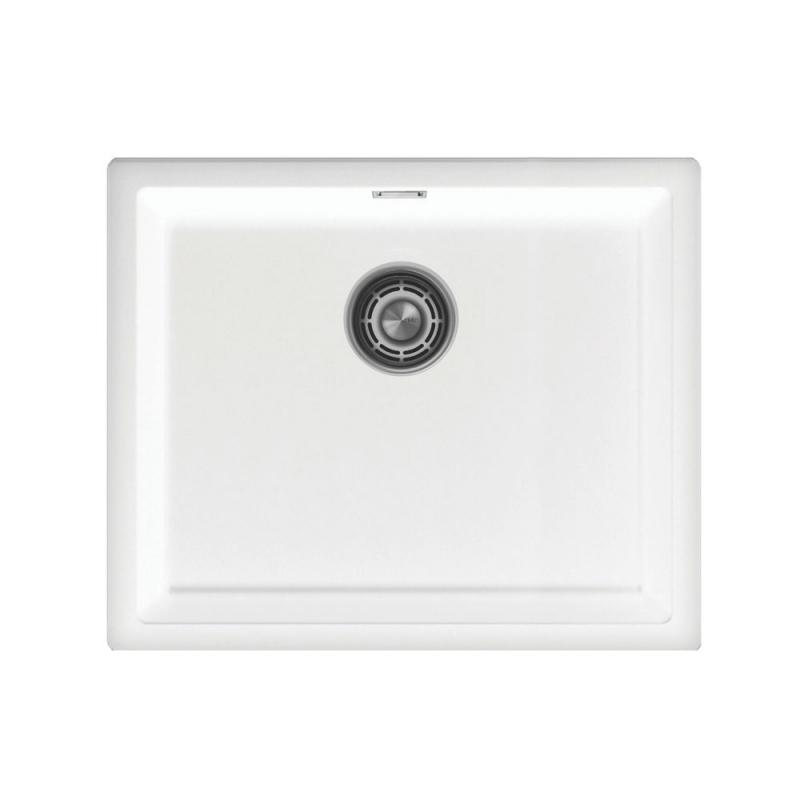 Vit Diskbänk - Nivito CU-500-GR-WH White Strainer ∕ Waste Kit Color