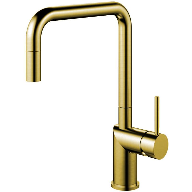 Mässing/Guld Köksblandare Utdragbart munstycke - Nivito RH-340-EX